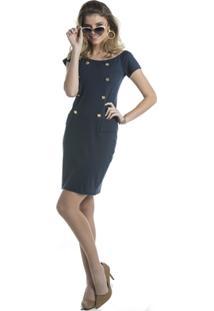 Vestido Márcia Mello Botoes Beatriz - Feminino