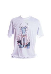 Camiseta Prorider Branca Bad Rose Personagem Autoral Nanami Nem Zeno