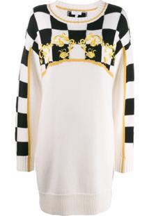 Escada Sport Knitted Checkerboard Dress - Neutro