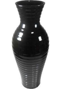 Vaso Cerâmica Preto 46X18Cm