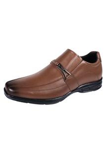Sapato Social Calçar Hype Confort Conhaque