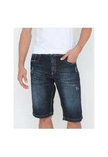 Bermuda Jeans New Masculino Azul Escuro