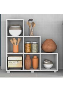 Armário De Cozinha 6 Nichos Bmu119 Branco - Brv Móveis