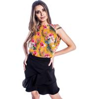 Blusa Amarela Crepe feminina | Shoes4you