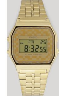Relógio Digital Casio Feminino - A159Wgea9Adfu Dourado - Único