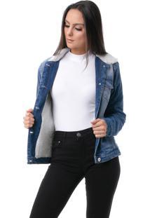 Jaqueta Pkd Com Forro De Pelo Jeans