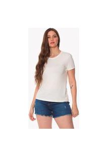 T-Shirt Daniela Cristina Basic Gola Redonda 602Dc10396 Off