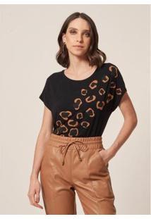 Camiseta Malha Onça Caviar - Feminina - Feminino