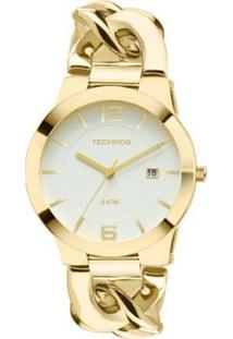 Relógio Technos Unique Feminino Analógico - 2115Ul/4B 2115Ul/4B - Feminino-Dourado