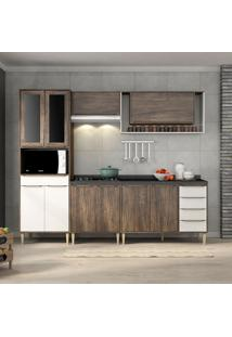 Cozinha Compacta C/Tampo Allure07 – Fellicci - Naturalle / Branco