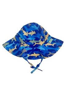 Chapéu Infantil Fpu 50+ Ecoeplay Tubarão Azul