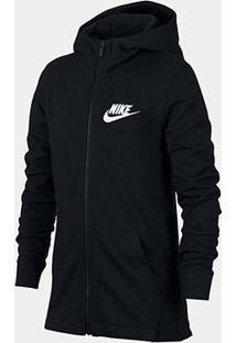 Jaqueta Infantil Nike B Nsw Hoodie Fz Jsy Masculina - Masculino-Preto
