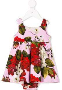 Dolce & Gabbana Kids Vestido Com Estampa De Rosas