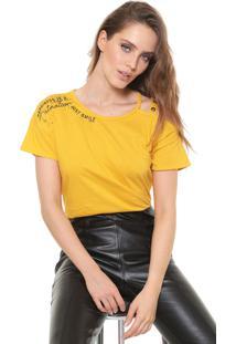 Camiseta Dimy Ilhoses Amarela