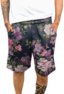 Bermuda Chess Clothing Dri-Fit Floral Colorido