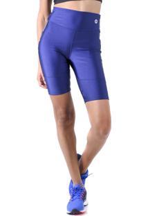 Bermuda Mama Latina Ciclista Wave Azul Escuro