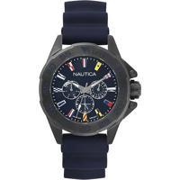 469194fd8e8 Relógio Nautica Masculino Borracha Azul - Napmia004