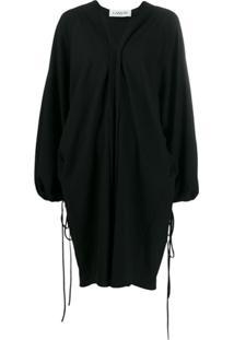 Lanvin Vestido Oversized Decote Em V - Preto