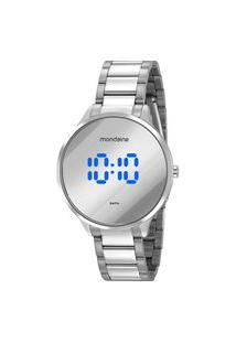 Relógio Feminino Digital Prata Mondaine - 32060L0Mvne4 Prata