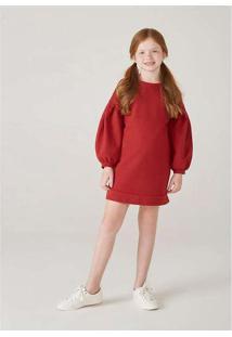 Vestido Infantil Menina Com Mangas Bufantes Mini M