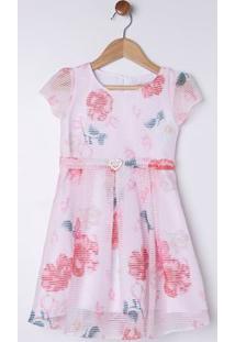 Vestido Infantil Para Menina - Coral