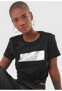 Camiseta Fiveblu Foil Off Line Preta - Preto - Feminino - Algodã£O - Dafiti