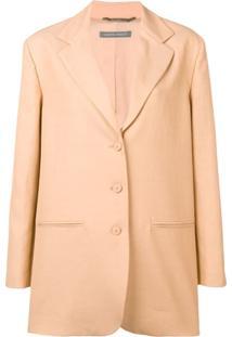 Alberta Ferretti Button-Up Jacket - Neutro