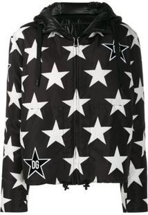 Dolce & Gabbana Millennials Star Printed Padded Jacket - Preto