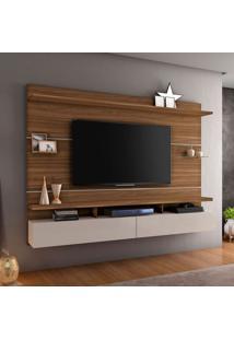 Painel Para Tv Até 60 Polegadas Aquarela Rovere E Off White