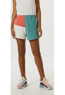 Shorts Feminino Color Block