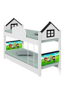 Beliche Infantil Casa Futebol Com Colchões Casah
