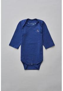 Body Bebê Reserva Mini T Malha Básico Masculino - Masculino-Azul Royal