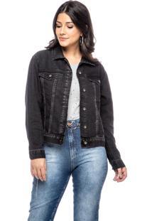 Jaqueta Jeans Dialogo Com Botões - Tricae