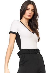 Camiseta Forum Color Block Off-White/Preta