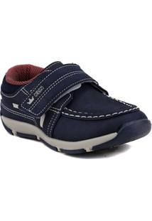 Sapato Infantil Para Bebê Menino Klin - Azul Marinho/Vermelho - Masculino