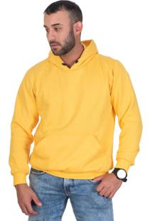 Casaco Moletom Blusa De Frio Selten Amarelo