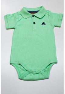 Body Up Baby Polo Masculino - Masculino-Verde
