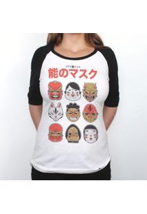 No Mask - Camiseta Raglan Manga Longa Feminina