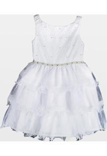 Vestido Cacau Kids Renda Consuelo Branco