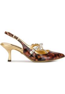 Dolce & Gabbana Sapato Com Aplicação - Dourado