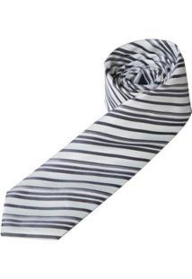 Gravata Colombo Masculina - Masculino-Branco+Preto