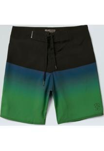 Bermuda Surf Masc Entardecer-Preto/ Azul/Verde - 38