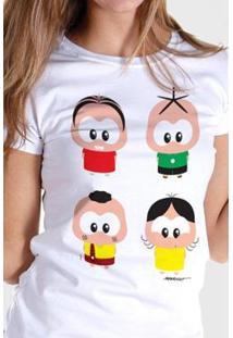 Camiseta Bandup! Turma Da Mônica A Turma Toy - Feminino-Branco