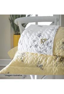 Sultan Conjunto De Cobre-Leito Crayon Queen Size Branco & Amarelo 3Pã§S