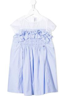 Simonetta Vestido Mangas Curtas - Azul
