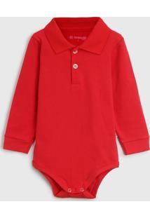 Body Brandili Infantil Polo Vermelho