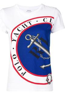Polo Ralph Lauren Camiseta Com Estampa De Âncora - Branco