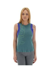 Camiseta Regata Fila Born To Run - Feminina - Azul Cla/Azul
