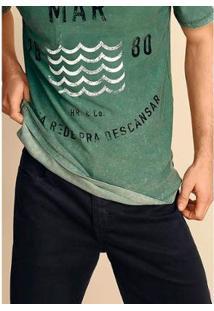 Bermuda Hering Em Sarja Regular Masculina - Masculino