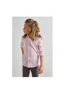 Camisa Mini Pf Textura Horizontal Inv 19 Reserva Mini Bordô